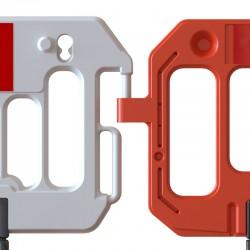 Barrière de sécurité facile à accrocher