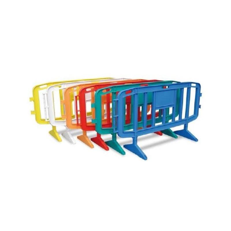 Barrière de police en plastique de couleur