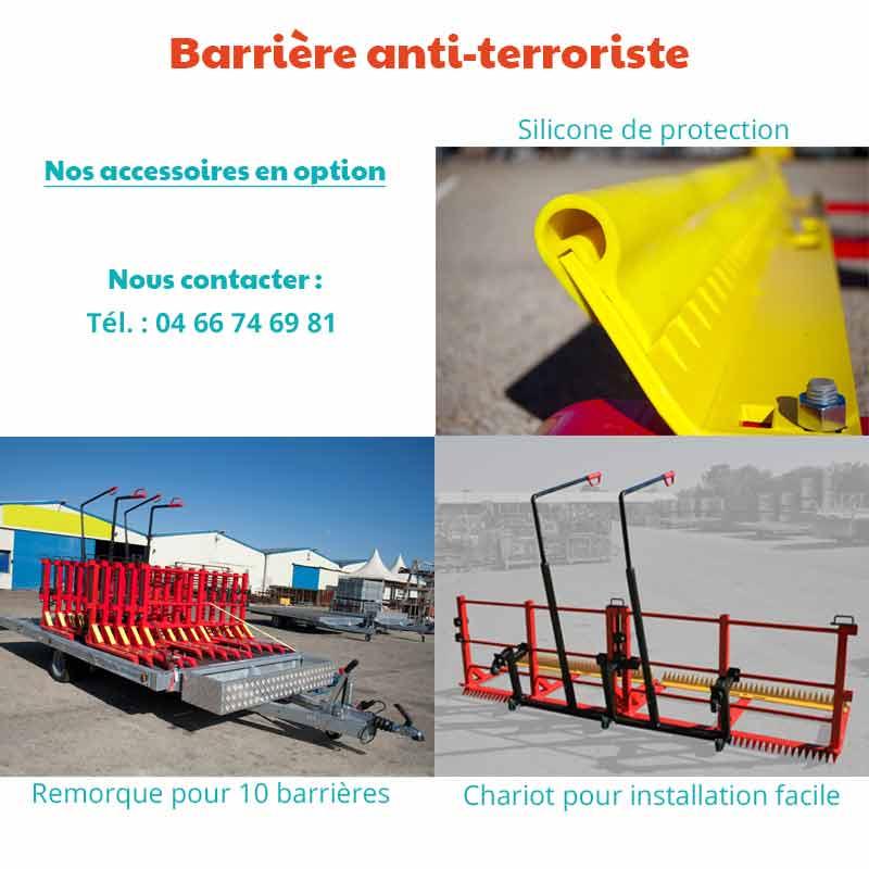 Les options de barrières antiterroriste